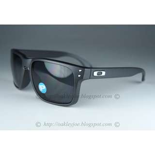 158cdc36e9 BINB Oakley Holbrook Asian Fit steel + grey polarized oo9244-12 sunglass  shades