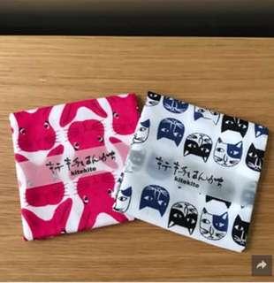 《全新日本直送》日本製紗巾(兔兔/貓貓)