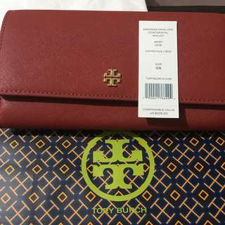 Authentic Tory Burch wallet (Maroon)