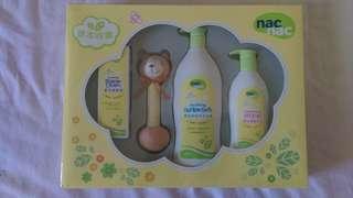 全新nac草本呵護嬰兒沐浴組禮盒