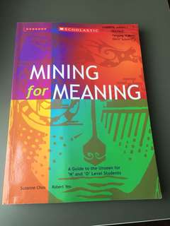 Mining For Meaning SEC 4 & 5 Literature assessment