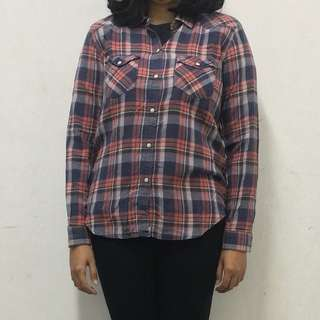 Kemeja Flannel American Eagle Outfitters Flanel Shirt