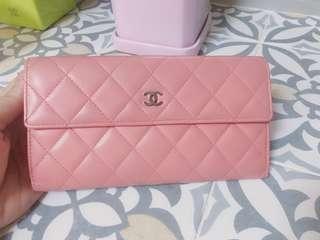 9成新-Chanel 粉紅色銀包
