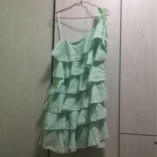 Mint colour layer dresses