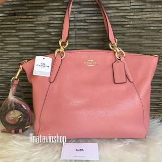 Authentic Nwt Coach Kelsey Small Vintage Pink