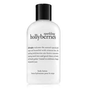 Philosophy lotion sparkling holly berries