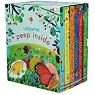 🚚 (Pre-order) Usborne: Peep Inside Pack - 6 Books Boxed Set