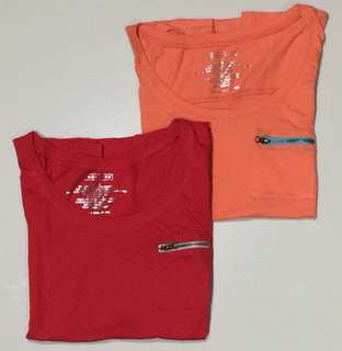 2 Ladies basic tees for only Php250
