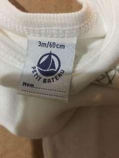 Petit Bateau 3-6mos Bodysuit / Onesie