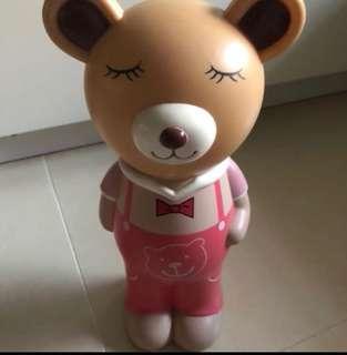 🚚 Cheapest pink bear piggy bank coin holder