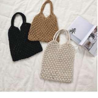 夏日/漁網編織手提包