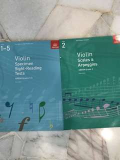 Violin ABRSM Sight-reading and Scales & Arpeggios #july100