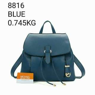 Michael Kors Backpack Blue Color