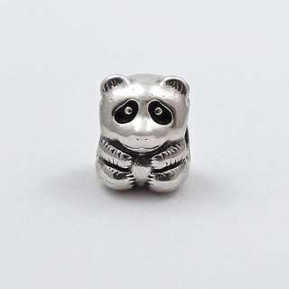 Authentic Pandora Charm Silver Retired Panda Bear Charm Italy Sterling Silver 92.5 (CHARMS ONLY)