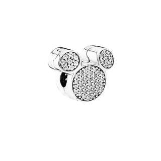 Authentic Pandora Charm Micke y Mouse Ears Charm with Cubic Zirconia Italy Sterling Silver 92.5 (CHARMS ONLY)