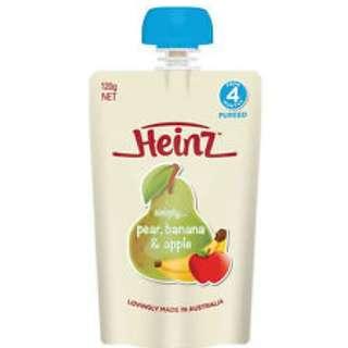 Blove 澳洲 Heinz 亨氏 嬰兒 幼兒食物 果蓉 果泥 輔食品 有機唧唧裝果蓉 #WHZ1
