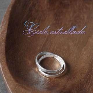 波紋雙圈純銀戒指