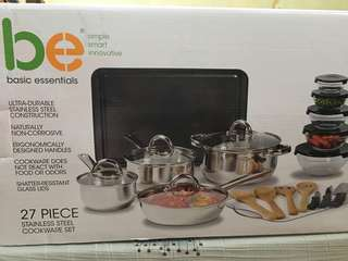 BE stainless cookware set from U.S.