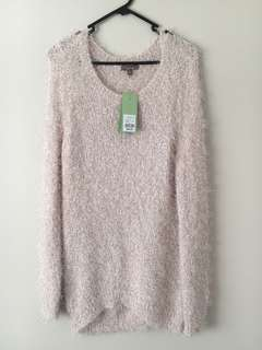 Katie's Size M Light Pink Fluffy Sweater