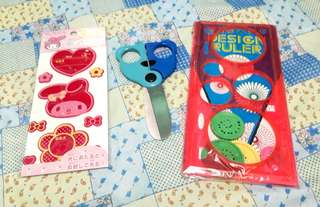 BUNDLE OF NOTEBOOKS, SCISSORS, STICKERS AND CRAFTS
