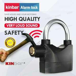 ORIGINAL Kinbar SIREN ALARM PADLOCK for DOOR/Motor/Bike/Car PAD LOCK