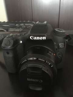 Canon 70d with 50mm lens used