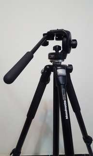 Manfrotto 055CLB Tripod with 128RC fluid head