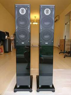 Pair of ELAC FS247 speakers sapphire edition