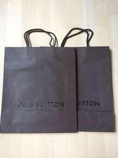 LV 紙袋 paper bag all (37x32)