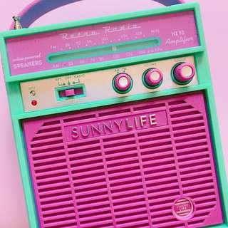 🚚 澳洲品牌SunnyLife復古音箱/音響🎵 #美妝半價拉