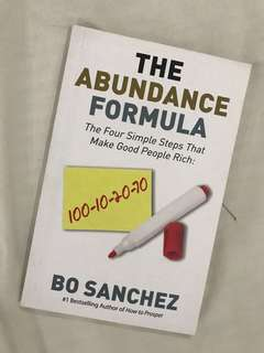 The Abundance Formula by Bo Sanchez