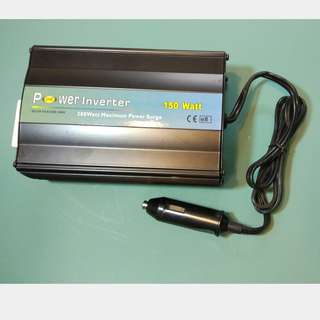 150W Power inverter 12V input to modified sine wave output true 240VAC (not 220 VAC) cw 3pin socket, on off switch led power indicator and low batt warning