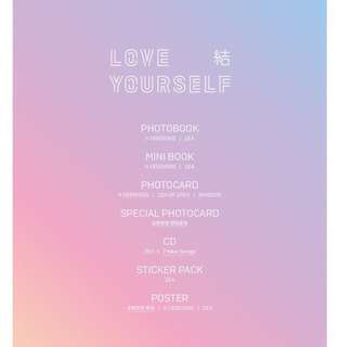 [Interest Check] BTS - Love Yourself 结 Answer