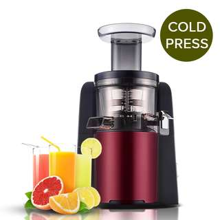 SOGA Cold Press Slow Juicer Fruit Vegetable Mixer Extractor Processor Red