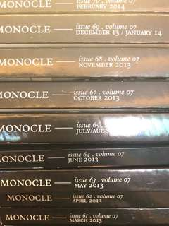 Monocle Volume 7: Issues 61-70 except 66