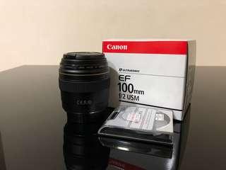 Canon EF 100mm f/2 USM (Used)