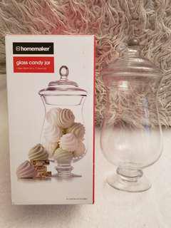 Glass candy/storage jar