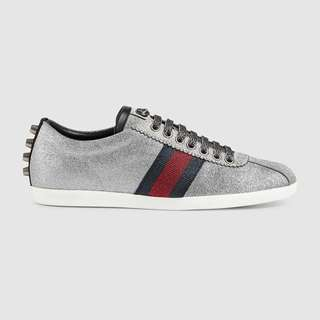 Gucci Web Sneaker With Studs