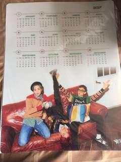 韓星月歷   $150 @1 #CBX#少女時代#BTS#朴寶劍