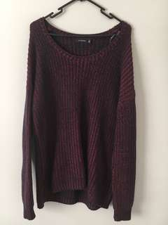 Glassons Size S Burgundy Sweater