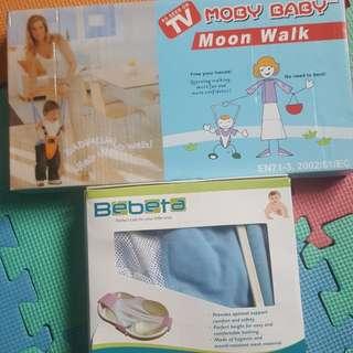 Baby moonwalk and bath tub set