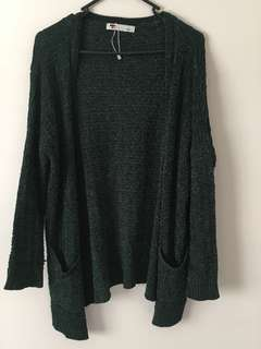 Temt Size S Green Cardigan