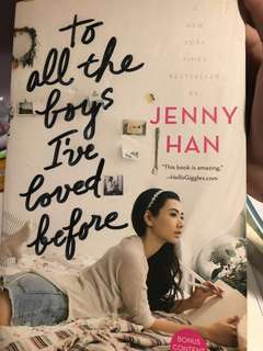 to all the boys i've loved before -lara jean