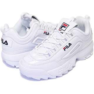 【Footwear Corner 鞋角 】FILA Disruptor 2 All White 鋸齒復古老爺鞋