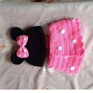 crochet minnie mouse costume photography baby props