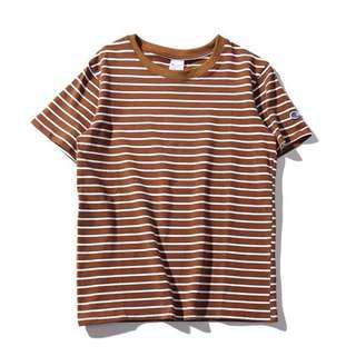brown inspired champion logo tshirt