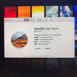 Macbook pro 13' Late 2013 256ssd