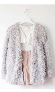 Fleece fur winter jacket/cardi