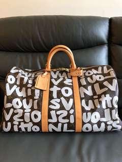 超級限量珍藏 LV Gradfitti 塗鴉 keepall 旅行袋