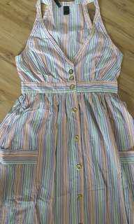 Mango colours striped midi dress